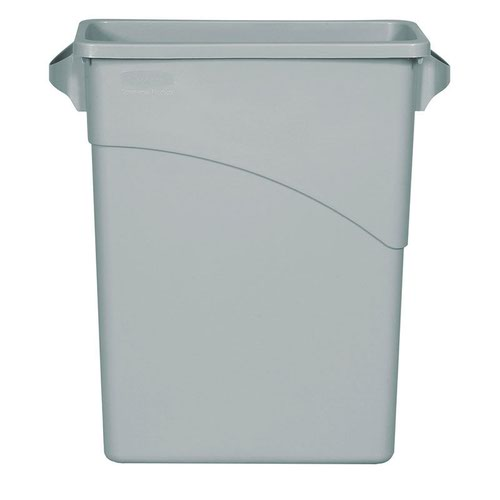 Rubbermaid Slim Jim Recycling System Container 60litre Grey 354100GREY