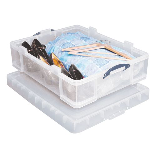 Really Useful Storage Box 70litre 620x225x810mm Clear 70C