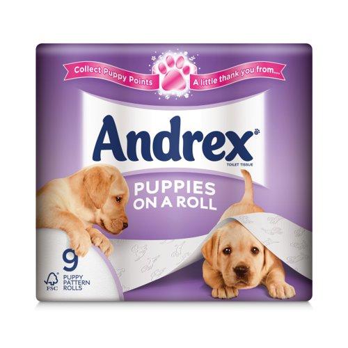Andrex Puppies Toilet Tissue White (9) 4978748