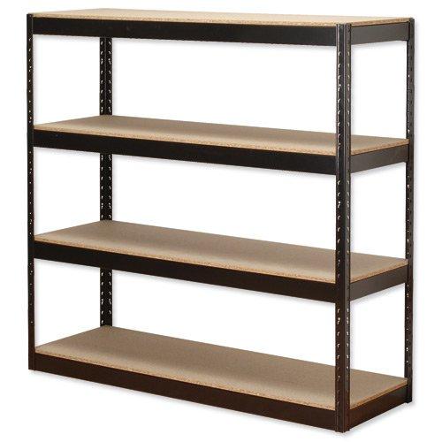 Influx Heavy Duty Shelving 4 Shelf 1320x450x1315mm Black