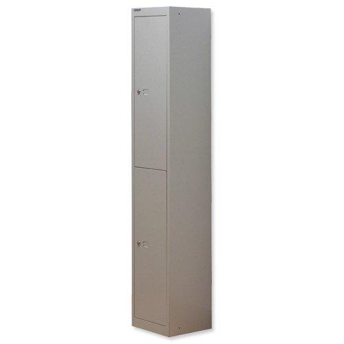 Bisley Locker 2 Door 305mm Grey CLK122