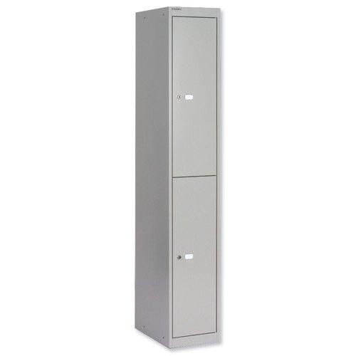 Bisley Locker 2 Door 457mm Grey CLK182