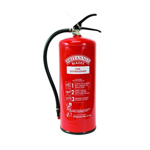 Fire Extinguisher Water Refillable 9 Litre FM49314