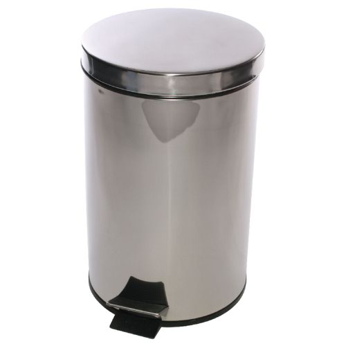 Stainless Pedal Bin 12 Litre Silver