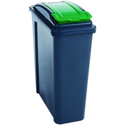 Recycling Bin With Lid 25 Litre Green 384284