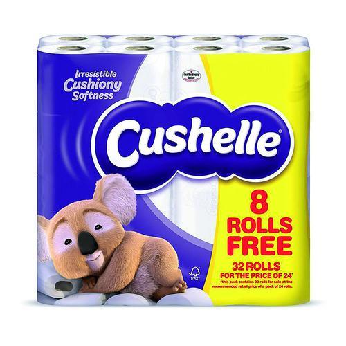 Cushelle Toilet Roll 180sheets White (32) 1102090