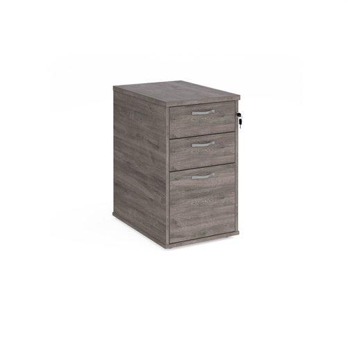 Desk High Pedestal 3 Drawer 426x600x725mm Grey Oak Finish R25DH6GO