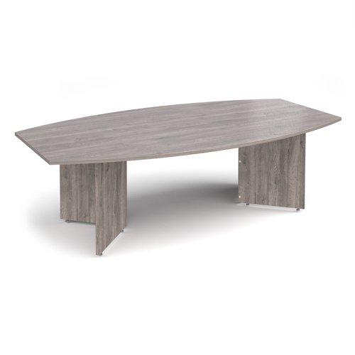 Radial End Boardroom Table 2400x1300mm Grey Oak ERB24GO