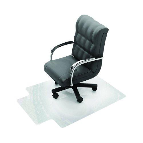 Value Polycarbonate Chair Mat Carpet Floors 1200x1340mm Clear