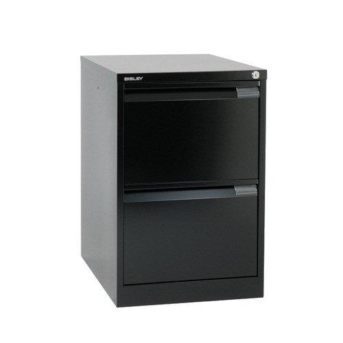 Bisley Filing Cabinet 2 Drawer 470x622x711mm Black BS2E