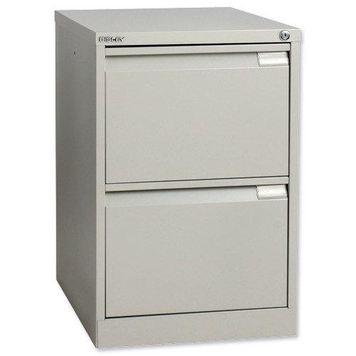Bisley Filing Cabinet 2 Drawer 470x622x711mm Grey S2EGY