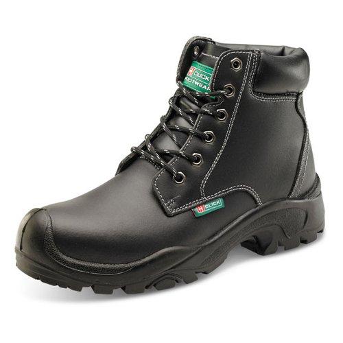 Beeswift Six-Eyelet PU/Rubber Boot Black Size 6.5/EU40 CF60BL06.5
