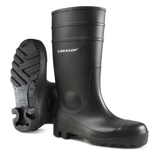 Dunlop Protomaster Full Safety PVC Wellington Boot Black Size 6.5/EU40 142PP06.5