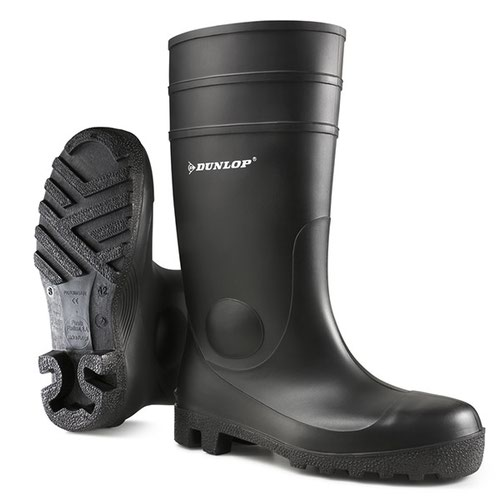 Dunlop Protomaster Full Safety PVC Wellington Boot Black Size 10.5/EU45 142PP10.5