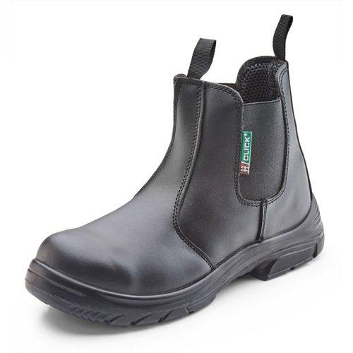 Beeswift Dual Density PU Dealer Boot Black Size 4/EU37 CF16BL04