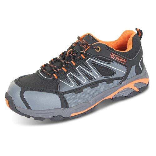 Beeswift S3 Composite Trainers Black/Orange/Grey Size 11/EU46 CF2911