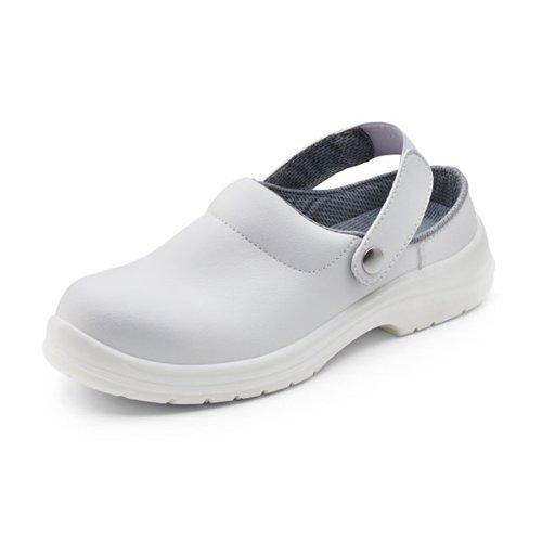 Beeswift Micro Fibre Slippers White Size 11/EU46 CF84211