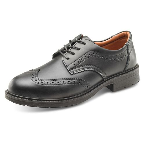 Beeswift S1 Brogue Shoes Black Size 10.5/EU45 SW201110.5