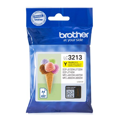 Brother Inkjet Cartridge High Capacity Yellow LC3213Y