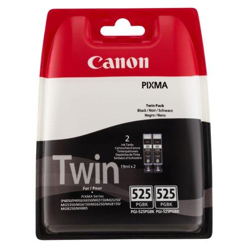 Canon No.525 Inkjet Cartridge Black (2) PGI-525PGBK Twin 4529B006