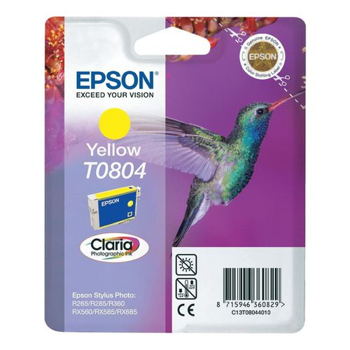 Epson T0804 Hummingbird Inkjet Cartridge Yellow T080440