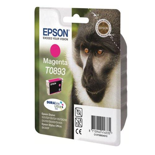 Epson T0893 Monkey Inkjet Cartridge Magenta T08934010