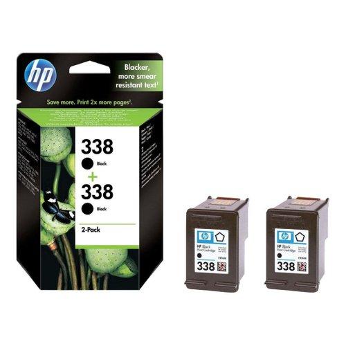HP No.338 Inkjet Cartridge Black (2) CB331EE