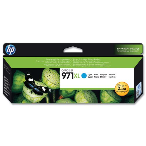 HP No.971XL Inkjet Cartridge High Capacity Cyan CN626AE