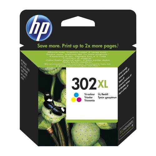 HP No.302XL Inkjet Cartridge High Capacity 3-Colour F6U67AE