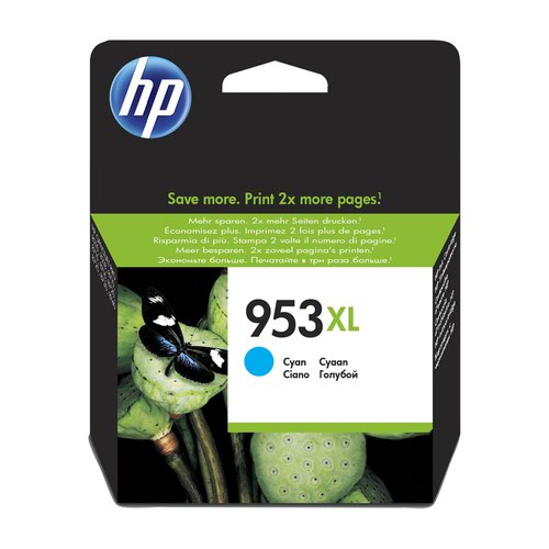 HP No.953XL Inkjet Cartridge High Capacity Cyan F6U16AE