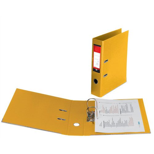 Value PVC Lever Arch File A4 Yellow
