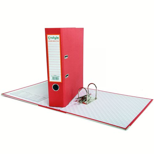 Style CORE Lever Arch File A4 Red