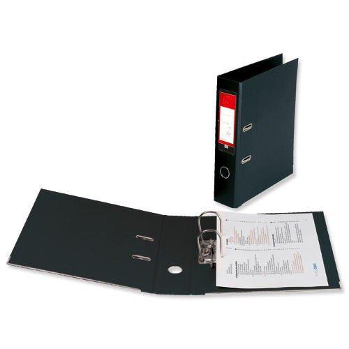 Value PVC Lever Arch File Foolscap Black