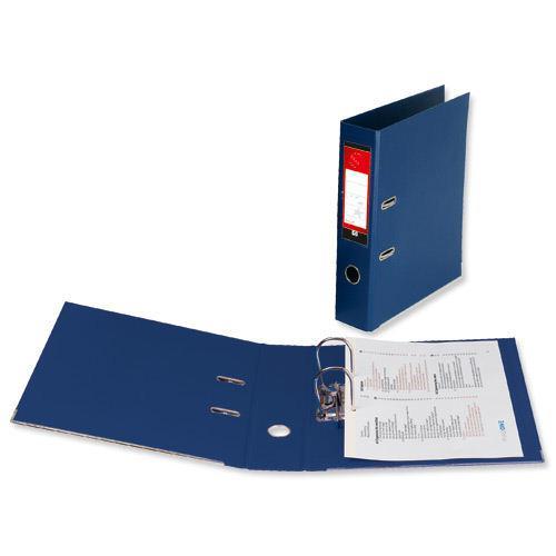 Value PVC Lever Arch File Foolscap Blue