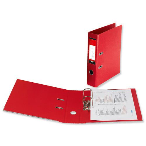 Value PVC Lever Arch File Foolscap Red