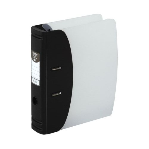 Hermes Heavy Duty Lever Arch File 80mm A4 Black 832001