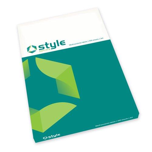 Style Optima Multi-Purpose Label 63.5x38.1mm White (100)
