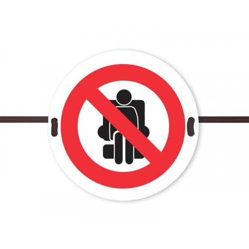 Beaverswood Social Distancing Seat Marker No Sitting Symbol SDS02