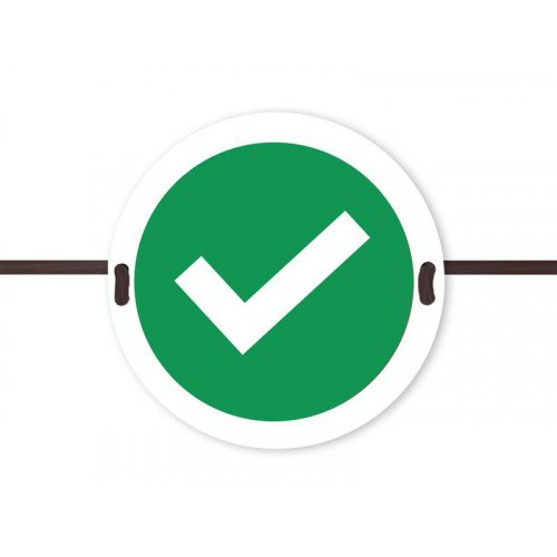 Beaverswood Social Distancing Seat Marker Tick Symbol SDS03