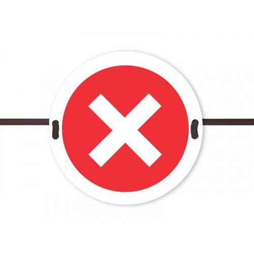 Beaverswood Social Distancing Seat Marker Cross Symbol SDS04