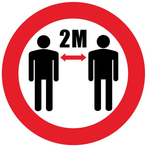 Beaverswood Permanent Social Distance Floor Marker Please Keep A 2m Safe Distance Symbol SDM04