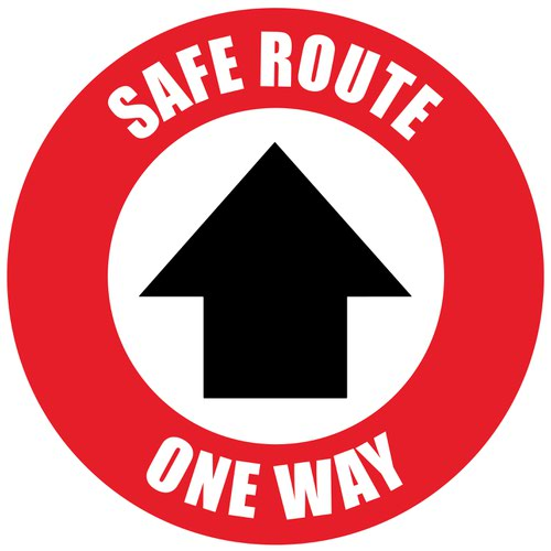 Beaverswood Semi-Permanent Social Distance Floor Marker Safe Route One Way RSDM06