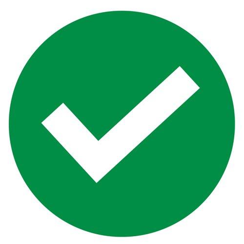 Beaverswood Seat Marker Labels Tick Symbol (14) SDL03