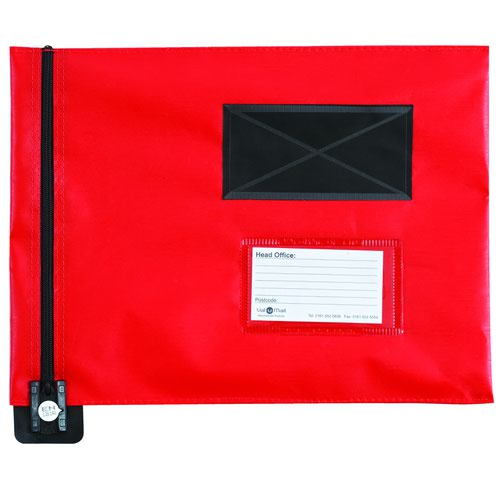 Value Flat Mailing Pouch A4 285x345mm Red