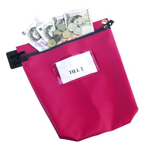 Value Cash Bag Medium 267x267x50mm Red