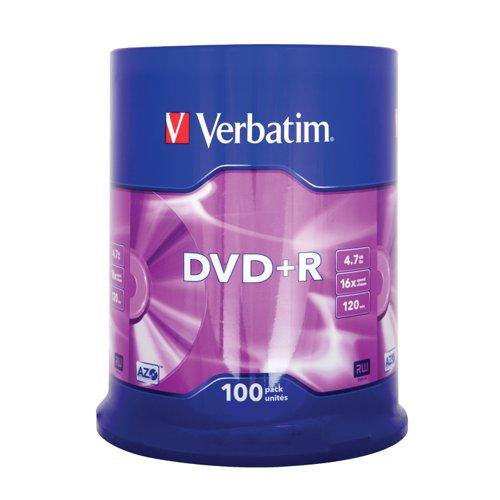 Verbatim DVD+R Spindle (100) 43551