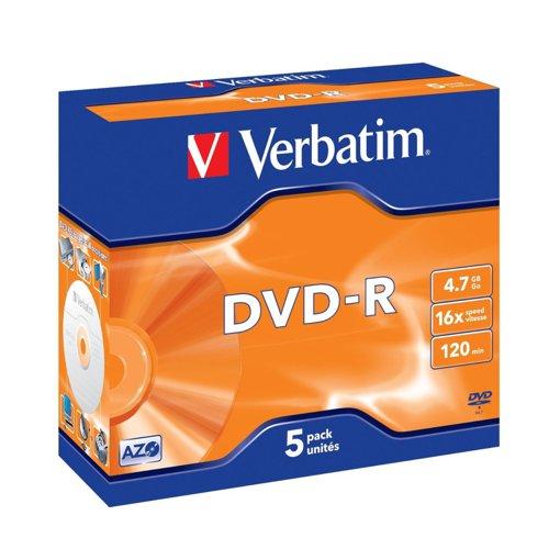 Verbatim DVD-R Jewel Case (5) 43519