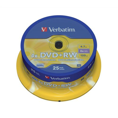 Verbatim DVD+RW Spindle (25) 43489
