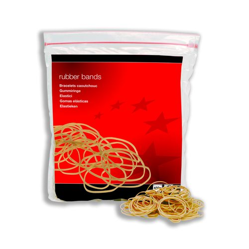 Value Rubber Bands Assorted Sizes 454g