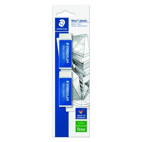 STAEDTLER Mars Plastic Eraser (2) 52650BK2DA